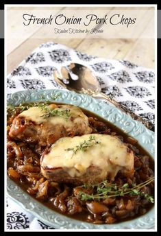 French Onion Pork Chops | Kudos Kitchen by Renee
