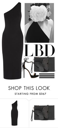 """Little Black Dress"" by carlina-tof ❤ liked on Polyvore featuring Theory, Sophia Webster and Nicholas Kirkwood"