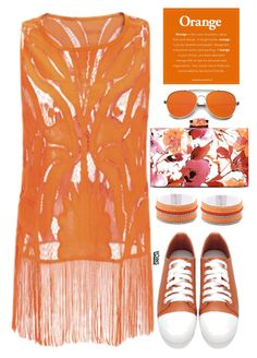 """""""Yoins #30"""" by oliverab ❤ liked on Polyvore featuring ZeroUV, monochrome, orange, yoins, yoinscollection and loveyoins"""