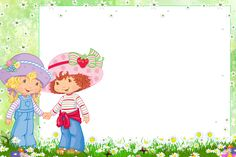 Transparent PNG Frame with Strawberry Shortcake and Friend