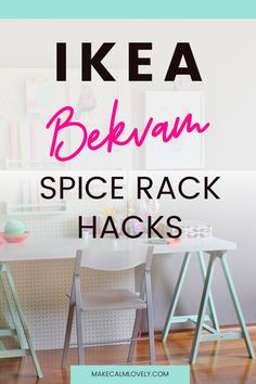 These IKEA Bekvam spice rack hacks are easy and amazing! See what you can create with this inexpensive little wooden spice rack!