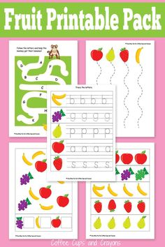 Printable Fruit Pack for Preschool