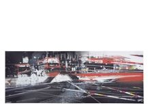 Buses Cityscape, 80 x 30 cm, Limited Edition by Frazier Boyd