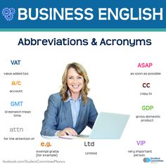 Abbreviations & Acronyms, BUSINESS