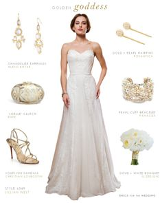 Goddess Wedding Gown by Lillian West. A strapless wedding dress with sheer overlay and beautiful draping.