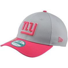 183822dd696 New Era New York Giants Gridiron Breast Cancer Awareness 9FORTY Adjustable  Hat - Gray Pink