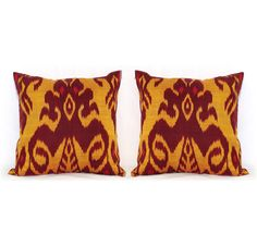 SALE FOR TWO ikat pillow cover ikat uzbek ikat ikat by SilkWay, $44.00