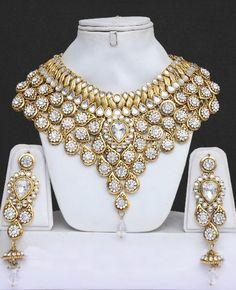 Modern indian wedding necklace