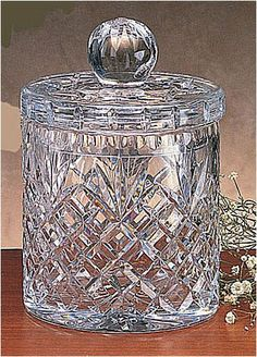 New High, Diameter Oxford Crystal Biscuit Jar