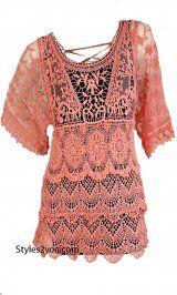 AP Abigail Vintage Lace Blouse In Coral