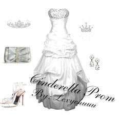 Princess Prom- Cinderella, created by lexychuuu on Polyvore
