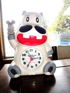 RARE Rhythm Hippopotamus w Tough Mouse Clock /this Alarm will wake you ! JAPAN | eBay Talking Alarm Clock, Hippopotamus, Clocks, Japan, Ebay, Watches, Clock, Japanese