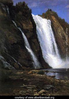 Waterfall - Albert Bierstadt - www.albertbierstadt.org
