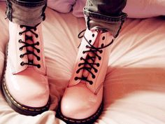 pink Dr. Martins. Back in style! I just love them!