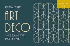 Geometric Art Deco Patterns  by TRNTFF on @creativemarket