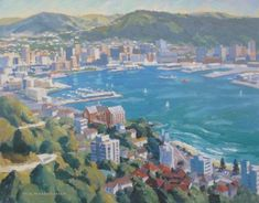 Check out Wellington from Mt Victoria by Bill MacCormick at New Zealand Fine Prints