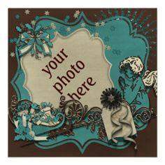 """Einladungskarte """"Silent Night"""" Vers05, Weihnachts Party, Photos können hinzugefügt, Hintergründe und Gestaltung kann ausgetauscht und Text kann geändert werden. Grafik und Entwurf bei ArianneGrafX©2013"""