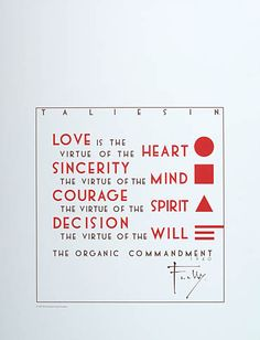 The Organic Commandment by Frank Lloyd Wright (1940) A framed copy hangs in my conference room.