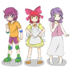 we are, the cutie mark crusaders!