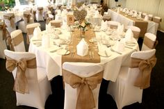 Our hessian runners and chair sashes in full effect at The New House Hotel, Cardiff.