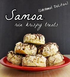 I really need to try these!  --  Samoa (Caramel DeLite) Rice Krispy Treats