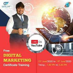 Hurry ! Enroll for Live Free Digital Marketing Training !!   Boost Your Career in Digital Industry - Call 9558593555 !!   #livedigitalmarketing #freetraining #freedigitlworld #freecourse #getcertificate #freemarketing #onlineMarketing #livemarketing #DigitalExim #digitalmarketing #socialmedia #seo #marketingstrategy #marketingdigital #marketingtips #digitaltips #marketingideas #digitalideas #marketingagency #marketingonline #marketingplan #marketingsocial  9505506333 | www.digitalexim.com Marketing Training, Marketing Plan, Online Marketing, Digital Marketing, Business Requirements, Free Market, Free Courses, Live Free