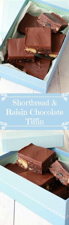 Shortbread & Raisin Chocolate Tiffin | Loving It Vegan