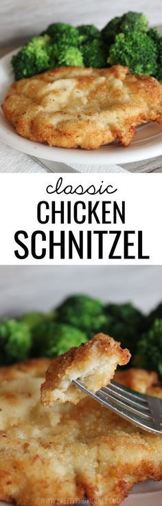 This classic chicken schnitzel cannot be beat! Such a yummy dinner option the whole family will love!: