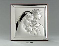 Srebrny obrazek Święta Rodzina, doskonały prezent dla młodej pary z okazji ślubu. #komunia #podziekowania #rocznica