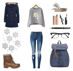 """""""Bez naslova #6"""" by dinaa45 ❤ liked on Polyvore featuring Barbour, Steve Madden, WithChic, Ray-Ban, Montblanc, Charlotte Tilbury and MAC Cosmetics"""