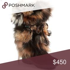 """Pajar Foxtrot fox fur boots, size 40 (9) Canada Worn once                                                Features:  Imported Dyed Fox Fur (Fur Origin: Italy) Rubber sole Shaft measures approximately 11.5"""" from arch Heel measures approximately 1.5"""" Platform measures approximately 1"""" Boot opening measures approximately 13"""" around Cold-weather boot featuring fox-fur shaft and tasseled wraparound tie Memory Foam and removable insole PAJAR Shoes Winter & Rain Boots"""
