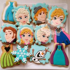 Frozen theme cookies