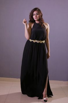 black colour gown