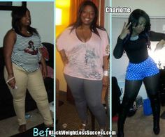 Before and After Weight Loss: Charlotte lost 90 pounds