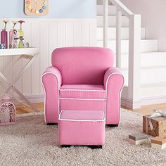 This delightful kid-sized chair and ottoman set by Member's Mark gives your child a seat all his or her own. Both pieces have a durable hardwood frame and are covered with easy-to-clean microfiber fabric. With on-trend color options and an upscale contrasting piping design, this chair is a... more details available at https://furniture.bestselleroutlets.com/children-furniture/chairs-seats/recliners/product-review-for-members-mark-kids-chair-and-ottoman-pink/
