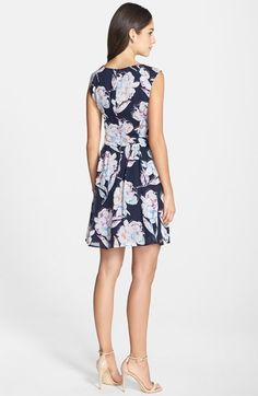 French Connection Print Chiffon Fit & Flare Dress   Nordstrom