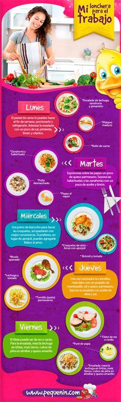 Ideas superprácticas para comer cada día en la oficina o fuera de casa.