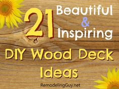 21 Inspiring DIY Deck Design Ideas and Pictures at www.RemodelingGuy.net