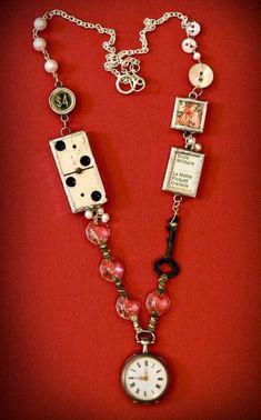 Original Ideas for Repurposing Vintage Jewelry Idee originali per riproporre gioielli vintage - Live Vintage Jewelry Crafts, Funky Jewelry, Recycled Jewelry, Old Jewelry, Wire Jewelry, Antique Jewelry, Beaded Jewelry, Jewelery, Handmade Jewelry