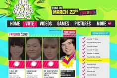 Vote for One Direction for the KCA's!! Word is that we're losing to Taylor Swift!! :(