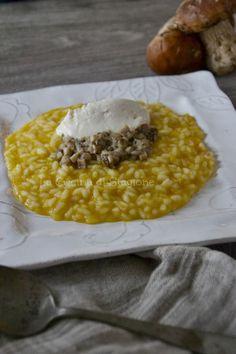 La Cucina di Stagione: Risotto alla zucca, ragù di porcini e gelato al parmigiano