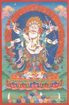 Tibetan buddhist thangka of green tara tibet visual dharma art fandeluxe Images