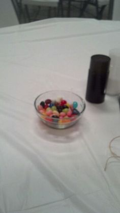 Candy dish with jellybeans