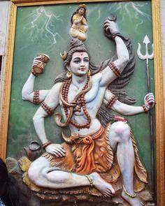 Hindu Cosmos — Shiva and Ganga relief sculpture, Bihar, India. Lord Shiva Statue, Krishna Statue, Bal Krishna, Shiva Art, Shiva Shakti, Rudra Shiva, Hindu Art, Hindu Deities, Hinduism