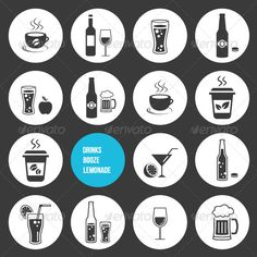 Vector Drinks Icons Set — JPG Image #application #button • Available here → https://graphicriver.net/item/vector-drinks-icons-set/5562892?ref=pxcr