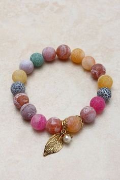 I'd love to DIY this Semi-Precious Marmalade Bracelet into a Bettie Flintstone necklace...you'd need just the right beads...