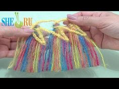 ▶ How to Make Tassels On Hairpin Loom Tutorial 34 Edging Ideas - YouTube