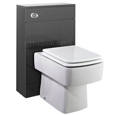 Hudson Reed Memoir Gloss Grey 500mm Back To Wall WC Unit - Bathshop321.com