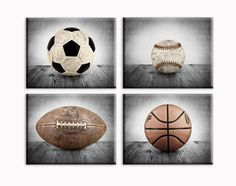 Sports Themed Canvas Wall art for boys, Vintage Sports Set of 4 Canvas prints ready to hang, multiple sizes available, Vintage themed baseball, basketball, soccer and football. This listing is for a set to 4 Stretched Canvases Ready to hang in whatever size you choose from the drop down menu. They are each Mounted on a .75 inch wood Stretcher frame and are printed on 430gsm poly-cotton blend canvas are museum quality and archival for more than 100 years. They come with a wire hanger…