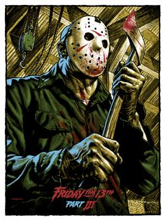 Friday The Art Silk Poster Print inch Jason Voorhees Classic Horror Movie Picture for Room Wall Decor 008 Jason Voorhees, Jason Edmiston, Horror Icons, Horror Movie Posters, Horror Movies, Jason Friday, Friday The 13th, Fri 13th, Happy Friday